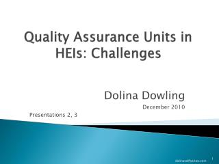 Quality Assurance Units in HEIs: Challenges