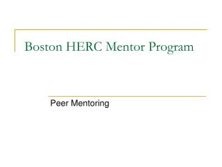 Boston HERC Mentor Program