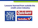 Lessons learned from outside the credit union industry: