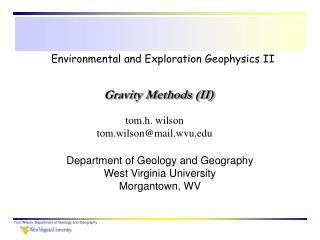 Environmental and Exploration Geophysics II