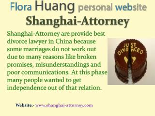 Finest of divorce lawyer in China