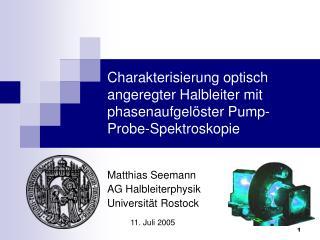 Charakterisierung optisch angeregter Halbleiter mit phasenaufgelöster Pump-Probe-Spektroskopie