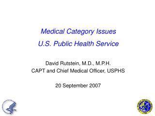 Medical Category Issues U.S. Public Health Service