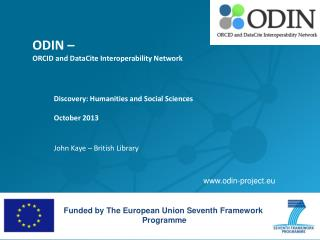 ODIN –  ORCID and DataCite Interoperability Network