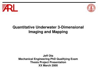 Quantitative Underwater 3-Dimensional Imaging and Mapping
