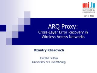 ARQ Proxy: Cross-Layer Error Recovery in Wireless Access Networks