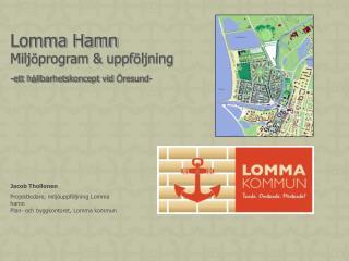 Lomma Hamn Milj ö program & uppf ö ljning -ett h å llbarhetskoncept vid  Ö resund-