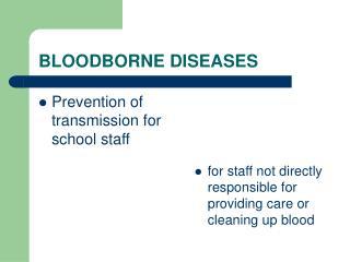 BLOODBORNE DISEASES