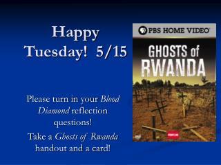 Happy Tuesday!  5/15