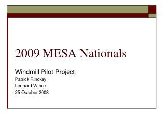 2009 MESA Nationals