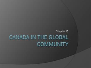 Canada in the Global Community