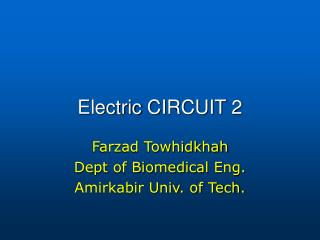 Electric  CIRCUIT  2