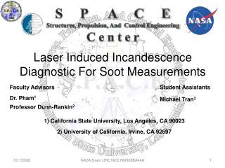 Laser Induced Incandescence Diagnostic For Soot Measurements