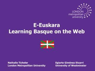 E- Euskara Learning Basque on the Web