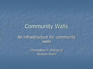 Community Walls