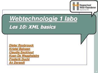 Les 10: XML basics