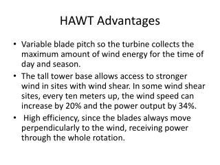 HAWT Advantages