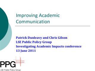 Improving Academic Communication