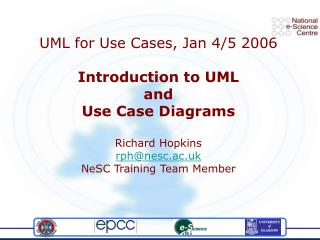 UML for Use Cases, Jan 4