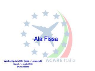 Workshop ACARE Italia – Università  Napoli - 14 Luglio 2006  Bruno Mazzetti