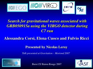 Search for gravitational waves associated with GRB050915a using the VIRGO detector during C7 run