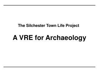 The Silchester Town Life Project