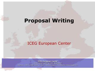 Proposal Writing ICEG European Center