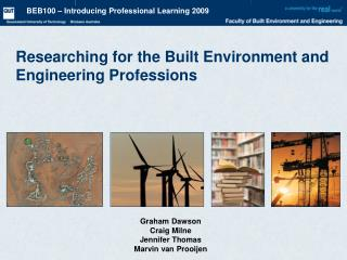 Researching for the Built Environment and Engineering Professions