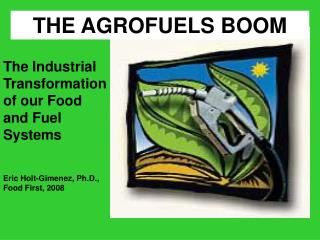 THE AGROFUELS BOOM