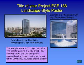 Title of your Project ECE 188 Landscape-Style Poster