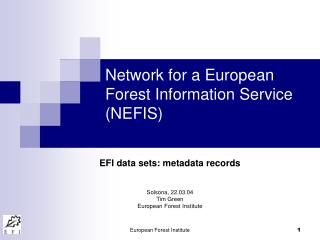 Network for a European Forest Information Service (NEFIS)