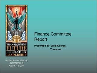Finance Committee Report