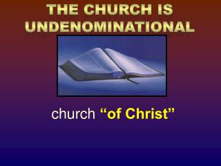 "church  ""of Christ"""