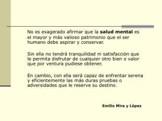 Situación de la  Salud Mental en el Perú