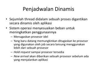 Penjadwalan Dinamis