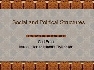 Social and Political Structures