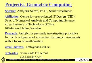 Projective Geometric Computing