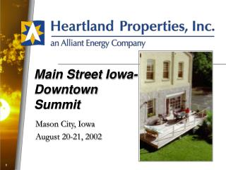 Main Street Iowa-Downtown Summit