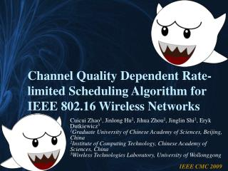 Channel Quality Dependent Rate-limited Scheduling Algorithm for IEEE 802.16 Wireless Networks