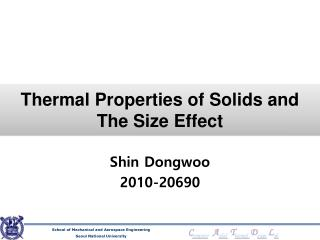 Thermal Properties of Solids and The Size Effect