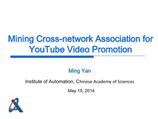 Mining Cross-network Association for YouTube Video Promotion
