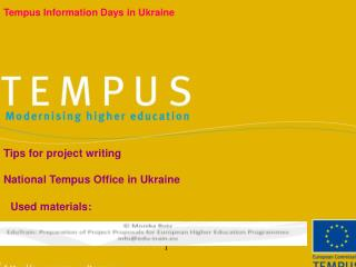 Tempus Information Days in Ukraine