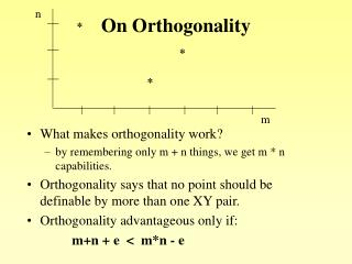 On Orthogonality