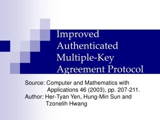 Key Agreement Protocol