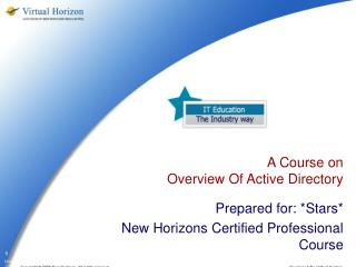 A Course on  Overview Of Active Directory