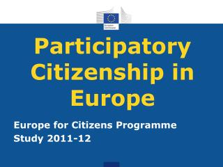 Participatory Citizenship in Europe