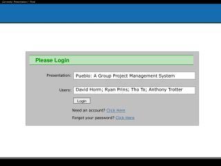 Pueblo: A Group Project Management System