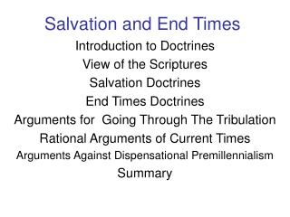 Salvation and End Times