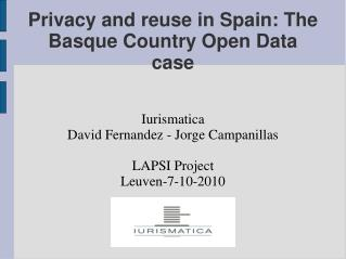 Privacy and reuse in Spain: The Basque Country Open Data case