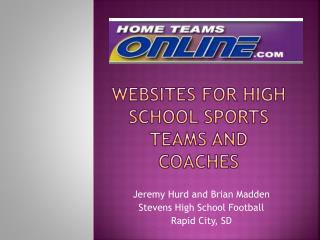 Websites for High School Sports Teams and Coaches
